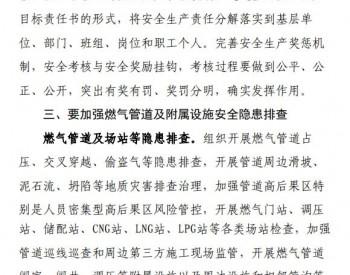 中国城市燃气协会关于切实加强城镇燃气安全管理严防重大事故发生的通知