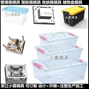 中国做大型模具塑料塑胶箱子模具塑料储物箱模具定制