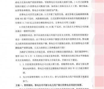 """广东多家民营售电公司联名上书呼吁""""停市"""""""