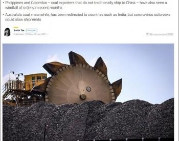 中国从美国进口煤炭,填补了澳大利亚留下的空缺