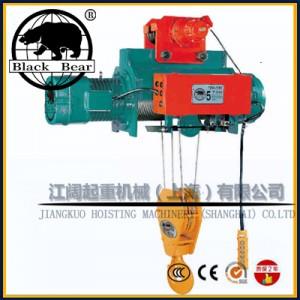冠亚牌电动葫芦5T-台湾冠亚钢丝绳葫芦双梁带遥控器