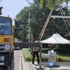 湖北膜结构汽车车篷 汉泰电瓶车充电桩 十堰充电站膜结构篷维修