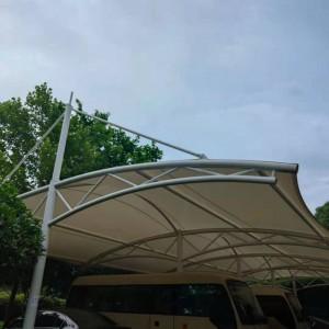 湖北遮雨篷膜结构 汉泰电瓶车充电桩 襄阳充电桩遮阳膜结构维修