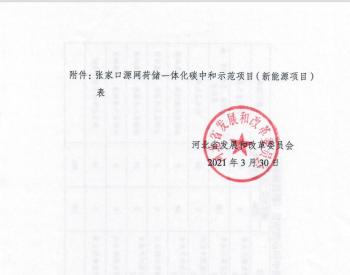河北省发改委关于下达张家口源网荷储一体化碳中和