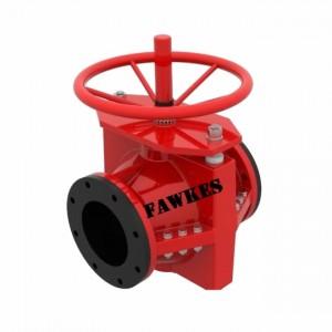 美国FAWKES福克斯进口手动管夹阀 胶管阀 进口箍断阀