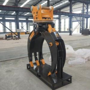 夹木器 挖机旋转夹石机 甘蔗夹 抓钢机