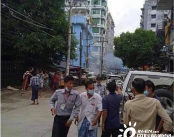 仰光的三个电力办公室在星期五早上被炸