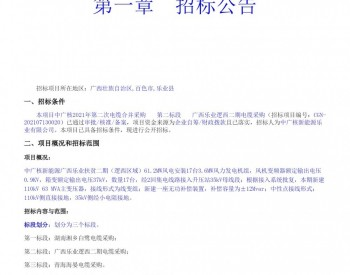 招标丨中广核2021年第二次电缆合并采购 第二标段 广西乐业逻西二期电缆采购招标公告