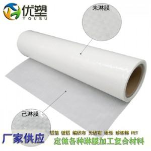白卡纸淋膜、纸张淋膜、牛皮纸复PE膜、淋膜复合牛皮纸袋