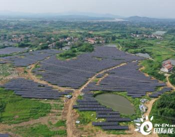 中国电力浠水竹瓦50MW<em>农光互补</em>光伏发电项目首次并网成功