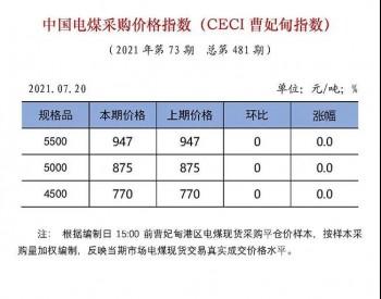 中国电煤采购价格指数(CECI曹妃甸指数)
