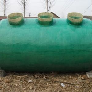 专业生产玻璃钢模压化粪池 农村厕所改造三格式玻璃钢化粪池