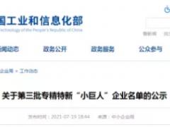"""治臻、东岳氢能等11企上榜!工信部公示专精特新""""小巨人""""企业"""
