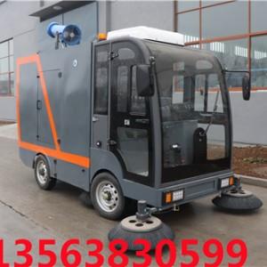 物业小区使用腾阳电动扫地车的清洁效果