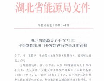优先支持风光火互补项目、风光储项目建设丨湖北省