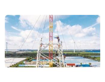 江苏南通:海上风电外送线路加紧建设