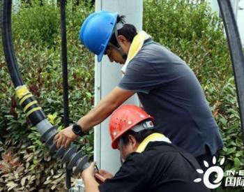 灾后河南省第一座撬装式移动变电站在尉氏县庄头镇