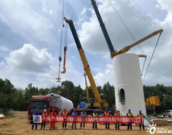 京能河北张北郝家营50MW风电项目首吊圆满成功