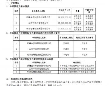 中标丨中广核新疆哈密翠岭分散式项目风电机组设备采购中标候选人公示