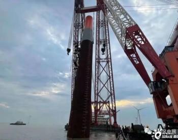 浙江嵊泗2号海上风电项目沉桩施工作业全部完成