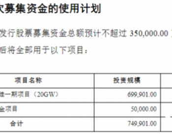 双良节能募资35亿,将用于40GW硅片一期项目