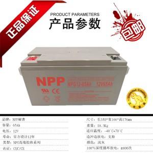 NPP耐普蓄电池NPG12-65 12V65AH参数报价