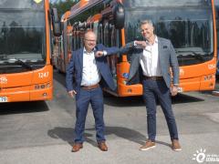 芬兰最大纯电动巴士车队如期交付 比亚迪新能源版