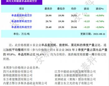 多晶硅周评-订单需求骤增 价格企稳回升(2021年8