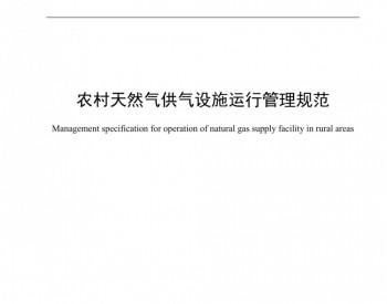 《农村天然气供气设施运行管理规范》