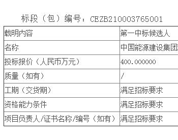 中标丨湖南衡东分散式(21MW)风电项目风机安装工程公开招标中标候选人公示