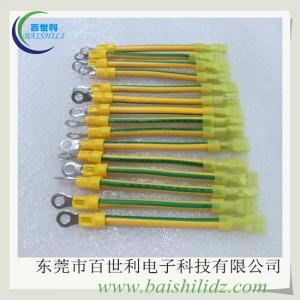 法兰静电跨接线,不锈钢静电跨接线,黄色双色绝缘接地线