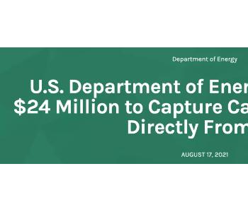 美国能源部提供2400万美元研发直接从空气捕集二氧化碳
