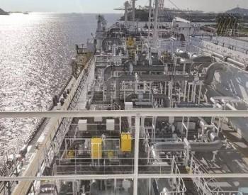 """可载运17.4万立方米液化天然气的""""木兰""""号LNG运输船交付"""