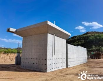 陕西延长石油富县电厂项目六台风机基础浇筑完成