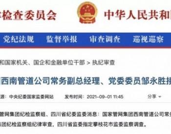 国家管网西南管道公司常务副总邹永胜接受审查