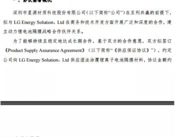 电池隔膜领军企业获43.11亿元大订单!被深交所关