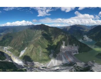 两河口水电站大坝填筑量突破4000万方