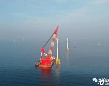 福建长乐外海海上<em>风电场</em>C区项目第二套塔筒机舱浮态安装完成