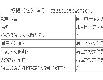 中标丨云南雷应山、黑马井两期风电场风机日常运行检修及定期维护项目公开招标中标候选人公示