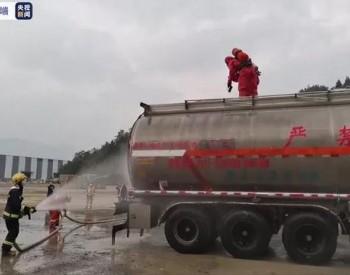 突发!!四川广元一辆载有33吨危化品罐车爆炸导致