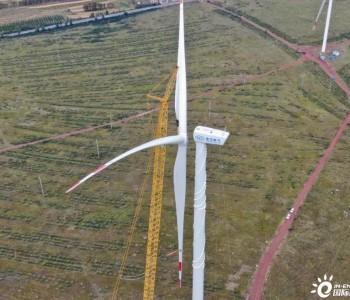 东方风电150米柔塔+全新4MW级双馈型风电机组完成
