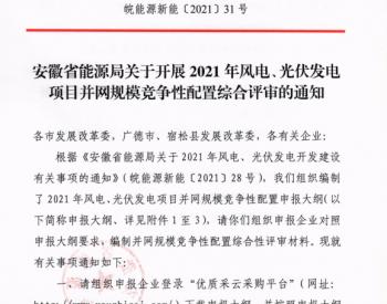 9月25日前申报!安徽发布《安徽省能源局关于开展