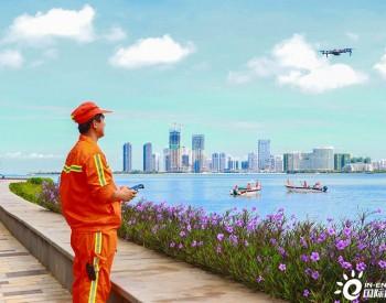 海南海口:无人机巡查助力海上垃圾分类