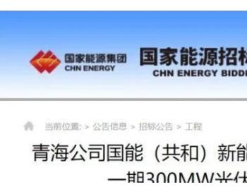 招标   国家能源集团青海1.5GW光伏项目一期300MW项目<em>EPC招标</em>
