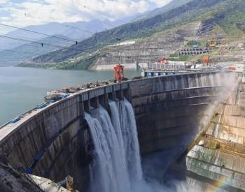 刚刚,白鹤滩水电站大坝表孔首次过流!