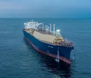 """17.4万立方米大型<em>LNG船</em>""""桂英""""号命名"""