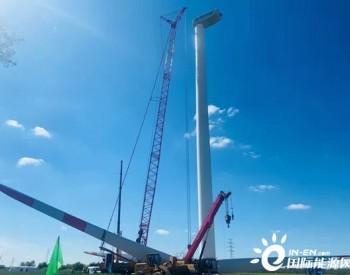南京风电4.5MW首台机组吊装成功!