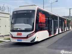 上海临港新片区首条氢能公交线完成调试