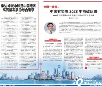 邹骥:中国有望在2028年之前,甚至更早实现碳