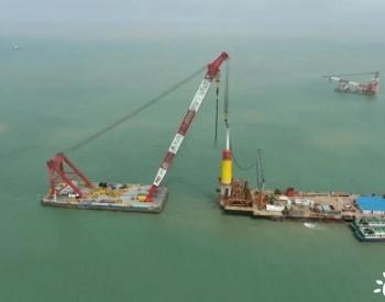 华电重工圆满完成江苏盐城大丰H5项目全部单桩基础沉桩